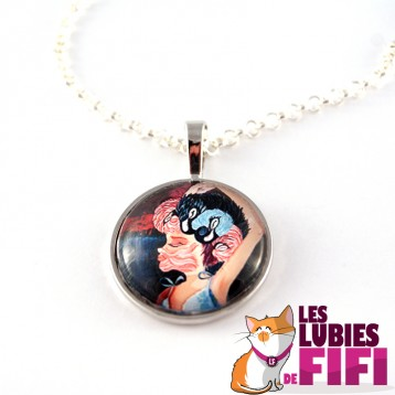 Collier : le flamant rose