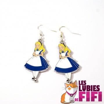 Boucles d'oreille : Alice aux Pays des Merveilles