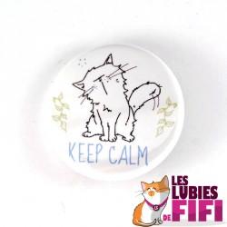 Badge chat : Mrou le chat keep calm