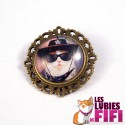 Broche chat : le chat cow-boy