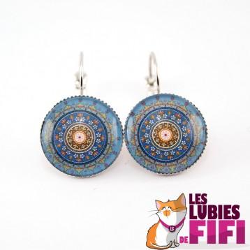Boucles d'oreille mandala : oriental mandala n°01