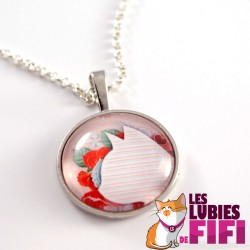 Collier chat : chat liberty rose