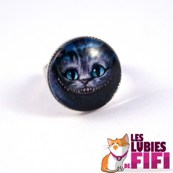 Bague chat : chat cheshire