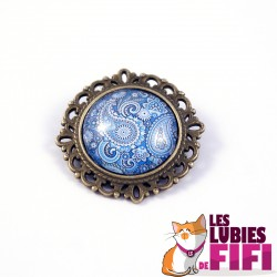Broche hindou : hindou paisley floral n°01