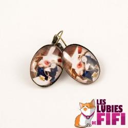 Boucles d'oreille : lapin d'Alice
