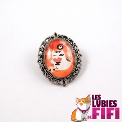 Broche chat : Noisette in Wonderland