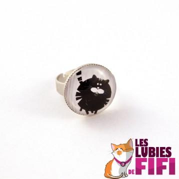 Bague chat : fluffy cat