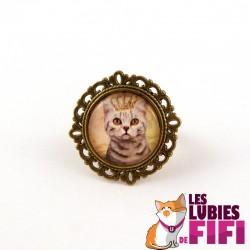 Bague chat : le chat et sa couronne