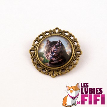 Broche chat : gentleman cat n°02