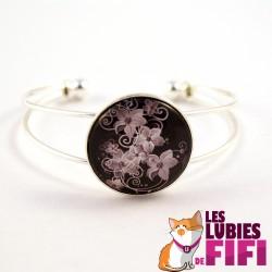 Bracelet fleurs : fleurs blanches