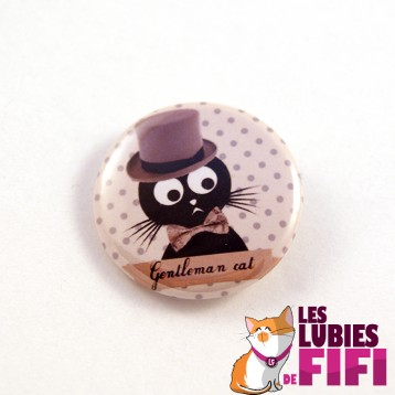 Badge chat : Gentleman Cat