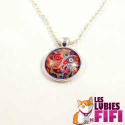 Collier hindou : floral paisley n°02