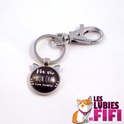 Porte-clé chat : ma vie, mon oeuvre