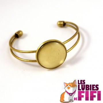 Bracelet personnalisé argenté rond 25 mm