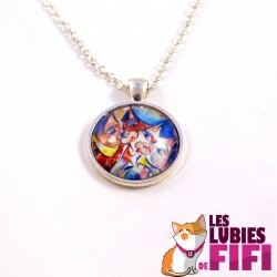 Collier chat : chat multicolore Brunsperger n°02