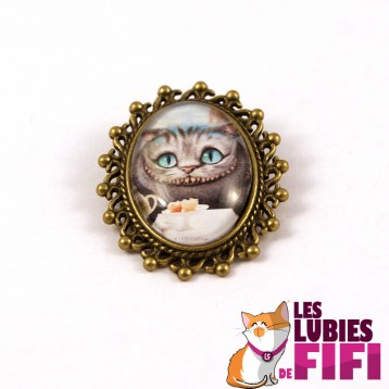 Broche chat : chat cheshire n°02