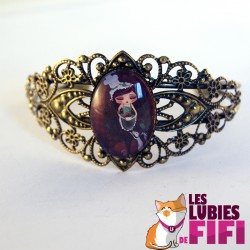 Bracelet poupée :  miss cupacke version ronde