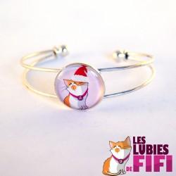 Bracelet chat : Mrou le chat toqué