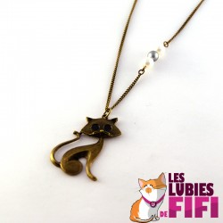 Collier chat : duo de chats Brunsperger