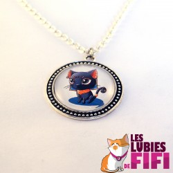 Collier chat : Bastet