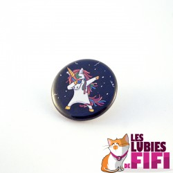 Badge : Licorne qui dab