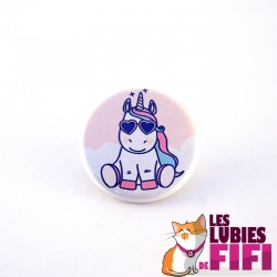 Badge licorne : Licorne Rock