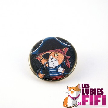 Badge chat : le chat pirate