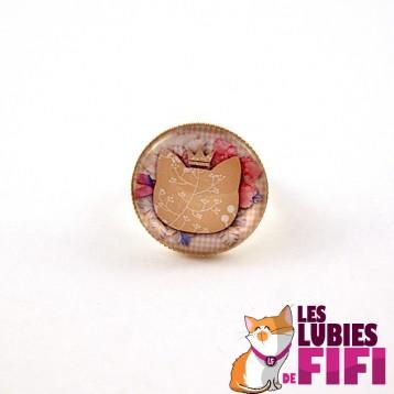 Bague chat : chat liberty et sa couronne