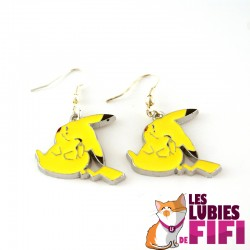 Boucles d'oreille Pokemon : Pikachu