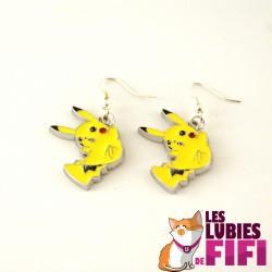 Boucles d'oreille Pokemon : Pikachu