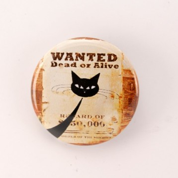 Badge collection chat : chat malin wanted