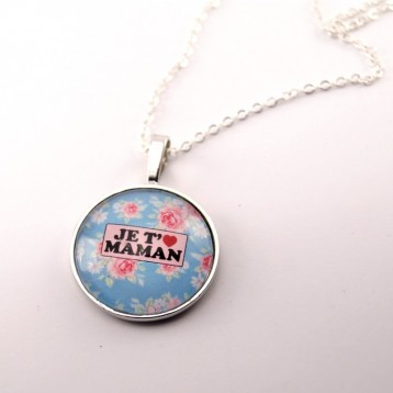 Collier maman : je t'aime maman