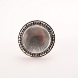 Bague personnalisée ronde argentée n°01