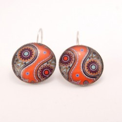 Boucles d'oreille hindou : hindou 1.5.8 fond orange
