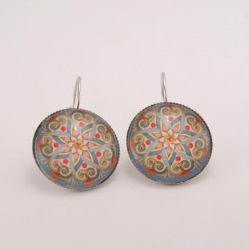Boucles d'oreille mandala : oriental mandala n°02