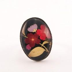 Bague fleur : fleur japonaise rose