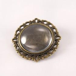 Broche personnalisée ronde bronze