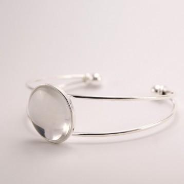 Bracelet personnalisé argenté rond 20 mm