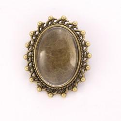 Broche personnalisée ovale bronze n°02
