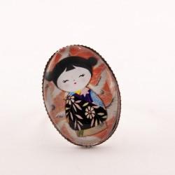 Bague kokeshi : kokeshi washi n°02