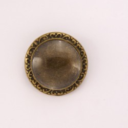 Broche personnalisée ronde bronze n°02