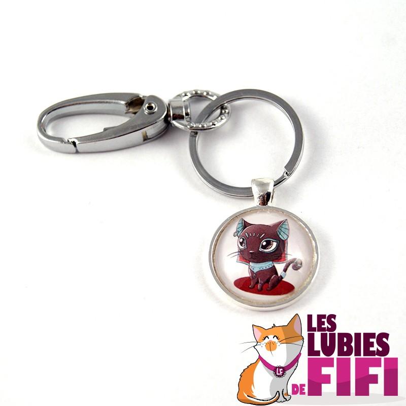 Porte-clé chat : Bastet couleur menthe
