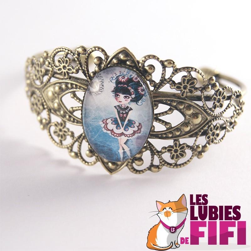 Bracelet poupée : l'amoureuse bronze